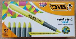 **BRAND NEW**  12 PACK BIC Brite Liner Grip Yellow Highlight