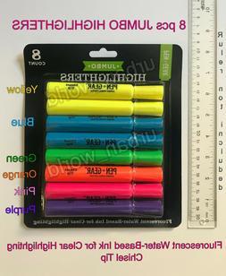 BRAND NEW HIGHLIGHTER Pen+Gear pack of 8 Jumbo highlighters,