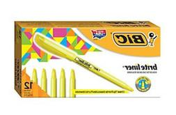 BIC ~ BRIGHT LINER ~ 12-PACK ~ NEW IN BOX ~ YELLOW ~ PRICED