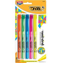 Bic Brite Liner Chisel Tip Fluorescent Highlighter, Assorted