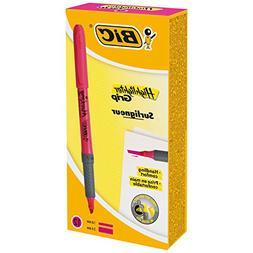 Bic Brite Liner Grip Fluorescent Highlighter, Chisel Tip, Pi