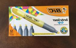 Bic Brite Liner Grip Highlighter Chisel Tip Yellow - 1 Box 1