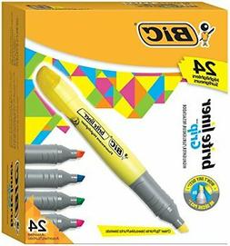 BIC Brite Liner Grip Tank Highlighter, Chisel Tip, Assorted