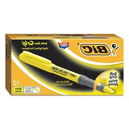 BIC Brite Liner Grip Highlighter - Marker Point Style: Chise