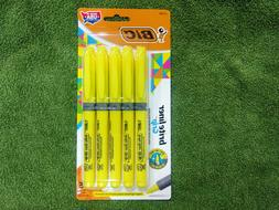 brite liner grip highlighter yellow chisel tip