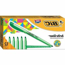 Brite Liner Highlighter, Chisel Tip, Fluorescent Green Ink,