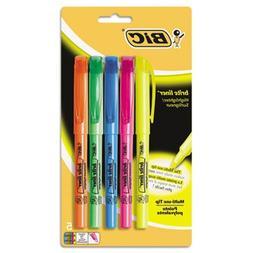 Brite Liner Highlighter, Chisel Tip, Fluorescent, 5 per Set