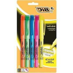 BIC Brite Liner Highlighter Chisel Tip Assorted Colors Set O