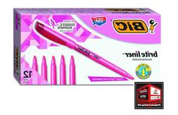 Bic Brite Liner Highlighter, Chisel Tip, Color-Pink, 48-Coun