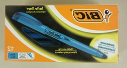 BIC Brite Liner Highlighter - Multi-Use Tip - Blue - 12-Coun