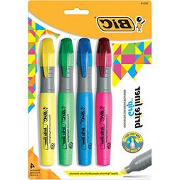 Bic Brite Liner Highlighter with Rubber Grip, Chisel Tip, As