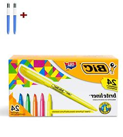 Brite Liner Highlighter, Chisel Tip, Assorted Colors, 24 Cou