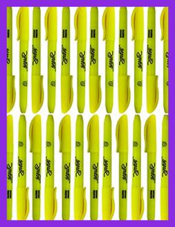 Bulk Sharpie Accent Pocket-Style Highlighters Fluorescent Ye
