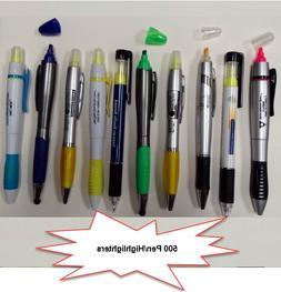 Bulk Lot of 1000 Misprint Plastic Double Sided Black Pen / Y