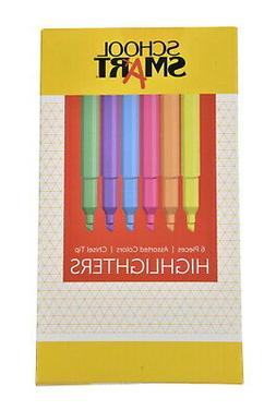 School Smart Chisel Tip Highlighters - Pack of 6 - Assorted