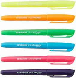 AmazonBasics Chisel Tip Highlighters - Pack of 12 Assorted C