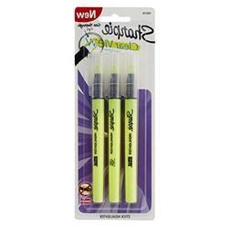 Sharpie Clear View Highlighter Stick, Yellow, 3/Pack
