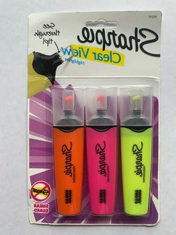 Sharpie Clear View Highlighters Assorted Fluorescent Colors