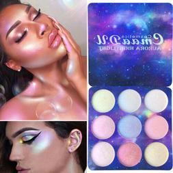 CmaaDu 9 Color Makeup Face Cream Contour Concealer Palette H