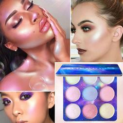 CmaaDu 9 Colors Highlighter Palette Makeup Powder Glow Kit i