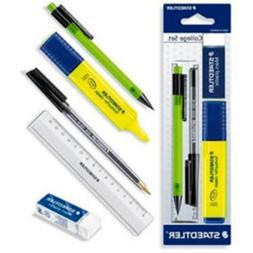 Staedtler Essentials Stationery Set-Highlighter Sharpener Eraser Pencils /& Pens