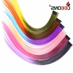 Leeons Colored Highlight Synthetic Hair Extensions Clip In O