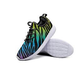 YYuuijk Colorful Zebra Stripe Printing Men's Athletic Shoes