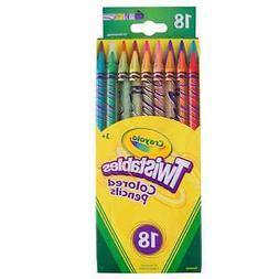Crayola Twistables Colored Pencils, Assorted Colors 18 ea