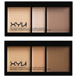 NYX Cream Highlight & Contour Palette ~ Light, Medium OR Dee