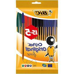 BIC Cristal Fine Tip Ball Pens - Orange/Assorted Colours