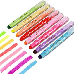 CHoSCH CS-199 Gel Highlighter Color Pack, 8 Assorted Color,