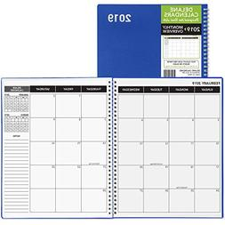Daily Monthly Planner 2018 Calendar / Appointment Book, Blue