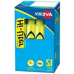 Avery Hi-Liter, Smear Safe Ink, Non-Toxic, 12 Desk Style Flu