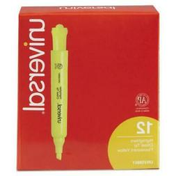Universal 08861 Desk Highlighter, Chisel Tip, Fluorescent Ye