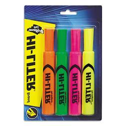 HI-LITER Desk Style Highlighter, Chisel Tip, Fluorescent Yel