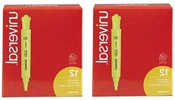 Universal Desk Highlighter, Yellow, Chisel Tip, Fluorescent,