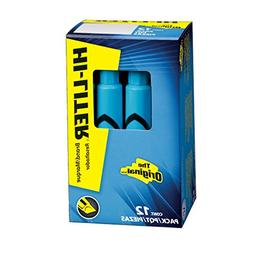 Avery Desk Style Hi-Liter, Chisel Tip, Blue, 12 Count