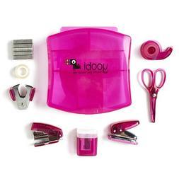 Desk Mini Supply Kit-Pink by Yoobi
