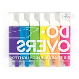 Ooly Do Overs Erasable Highlighters Markers Set of 6