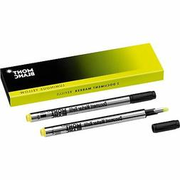 Montblanc Document Marker Highlighter Refill Yellow 2 Pack 1