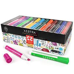 ARTEZA Dry Erase Markers, Bulk Pack of 52 , 12 Assorted Colo