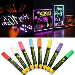 Dual Nib Liquid Chalk LED Writing Board Highlighter Fluoresc