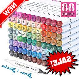 Shuttle Art 88 Colors Dual Tip Art Markers,Permanent Marker