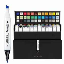 Dual Tips Art Sketch Markers Set of 36 Permanent Highlighter