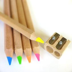 Eco Highlighter Pencils - Set of 5 Colors - Will Not Bleed o