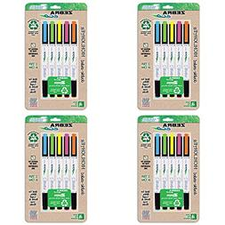 Zebra Eco Zebrite Double-Ended Highlighters, Fine Point and