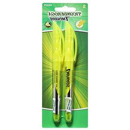 Ticonderoga Emphasis Highlighter, Pocket Style, Yellow, 2 Co