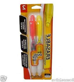 ERASABLE HIGHLIGHTERS BY PROMARX PINK  YELLOW LARGE MEGA BOL