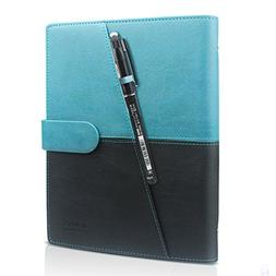 HOMESTEC Erasable Reusable Smart Notebook PU Leather Hardcov