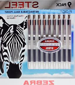 Zebra F-301 Ballpoint Retractable Pen, Black Ink, Fine Point